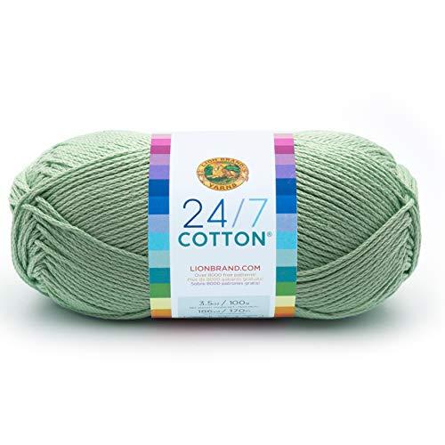 Lion Brand Yarn 761-156 24-7 Cotton Yarn, Mint