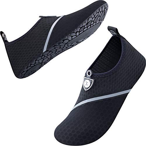 SIMARI SWS001 Water Shoes, Marine Shoes, Surf Boots, Amphibious Shoes, Unisex, Amphibious, Quick Drying, Aqua Shoes, Lightweight, Breathable, Anti-Slip, Unisex - black
