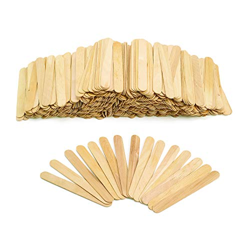 Colorations Large Natural Wood Craft Sticks Tongue Depressors, 500 Pieces, All Natural, 1mm Thick, 6' x 3/4' Each (500T)
