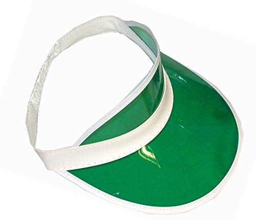 Green Poker/ Golf Visor Hat Fancy Dress Accessory
