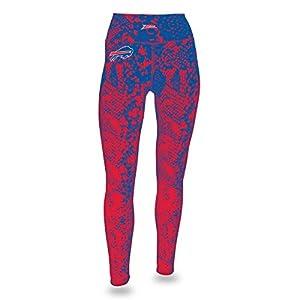 Zubaz NFL Buffalo Bills Women's Gradient Print Team Logo Leggings, Large, Blue/Red