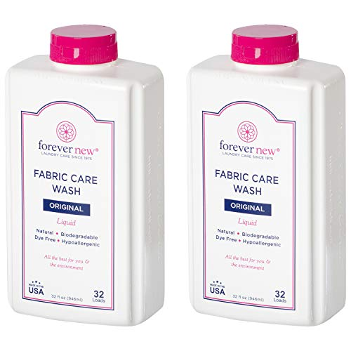 Forever New 32oz Liquid Original Scent Fabric Care Wash 2 Pack (64oz Total) Natural Laundry Detergent