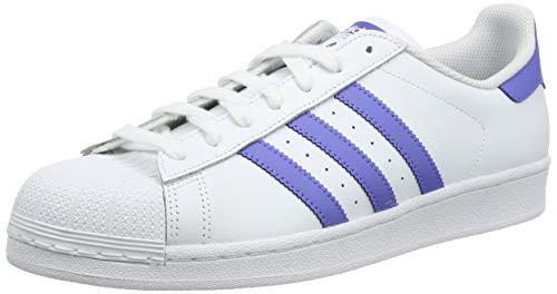 adidas Herren Superstar Sneaker, Weiß (Footwear White/Real Lilac/Footwear White 0), 42 EU