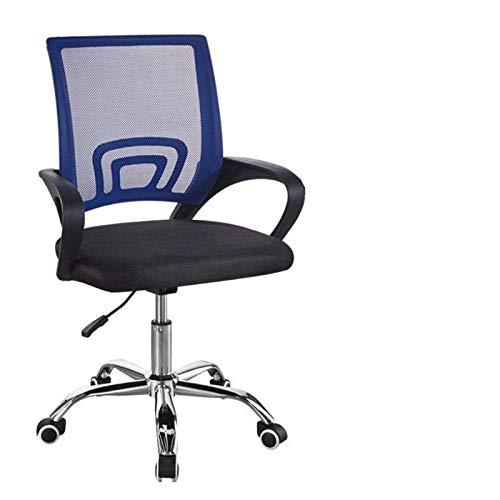 Silla giratoria Jovno de respaldo alto con silla de malla reclinable plegable con reposabrazos ajustable con apoyabrazos. Azul.