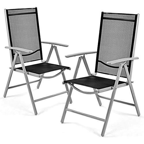 Giantex Set of 2 Patio Folding Chairs
