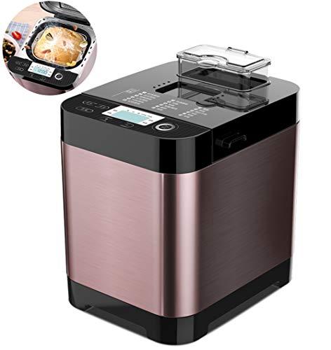Automatische Brotmaschine, intelligenter schneller Brotbackautomat, vollautomatischer Touch 450W, LCD-Bildschirm, 6 seitlich verbrannte Farben, 18 Menüs, Terminzeit