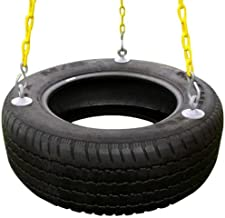 Eastern Jungle Gym Heavy-Duty 3-Chain Rubber Tire Swing Seat with Adjustable Coated Swing Chains - Swing Set Accessories