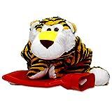 Wärmflasche Tiger Kuscheltier Bezug - 0,7 Liter Naturkautschuk Bettflasche ideal für Kinder - Überzug waschbar und extra weich