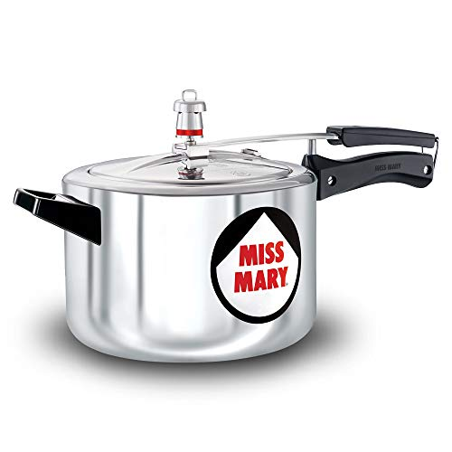 Miss Mary Pressure Cooker, 5 Litre, Silver (MM50)