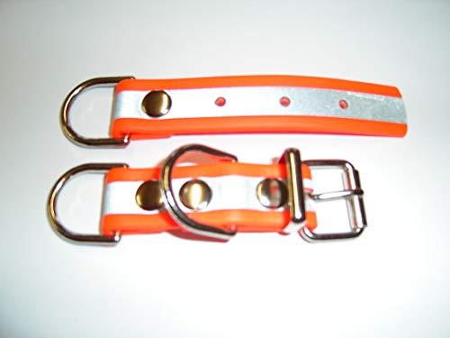 Angel for Pets MJH BioThane Reflex Halsband Verschluss Adapter verstellbar 25mm breit versch. Farben (orange)