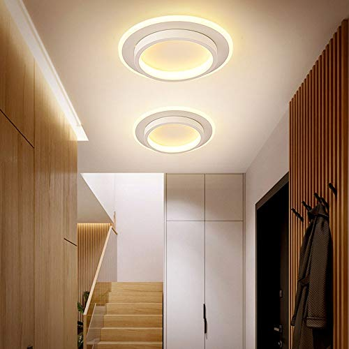 YANG1MN Casa moderna entrada pasillo guardarropa simple lámpara LED nórdico balcón pasillo lámpara de techo luces pasillo
