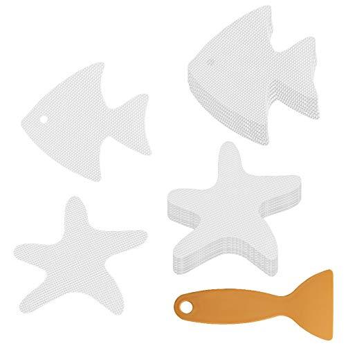 Accmor Non-Slip Bathtub Stickers, Bathroom Tubs Safety Strips, Bathroom Showers Treads Adhesive Decals, 20PCS