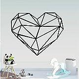 Creativity Geometry - Pegatinas de pared con forma de corazón, decoración de dormitorio, cuarto de bebé, pegatinas de pared, 70 x 57 cm