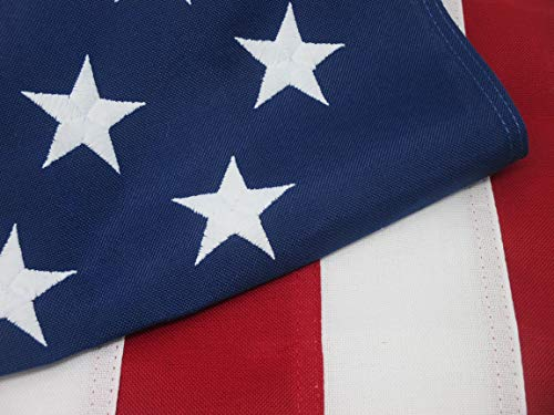 American Flag Heavy Duty 3x5 Premium Commercial Grade 2 ply Polyester 100% Made in USA Tough Durable Fade Resistant All Weather Sewn Stripes Embroidered Stars