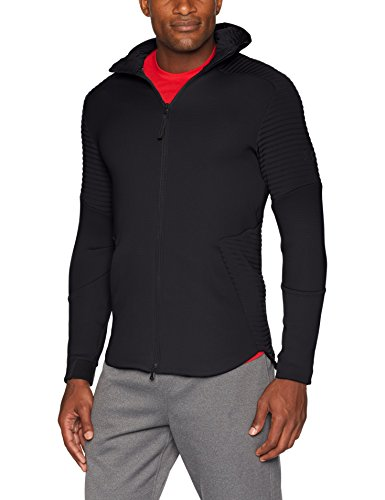 Under Armour, Unstoppable Move Fz Hoodie, Top Termico, Uomo, Nero (Nero/Charcoal/Nero), XL