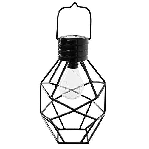 Ldk Garden Lampe Solaire en métal pour terrasse Noir