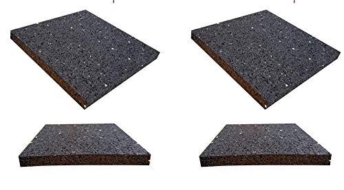 4tapis anti rutschpads 10cm x10cm x 10mm machine à laver Vibration Anti Vibrations caoutchouc Pads pour sèche-linge