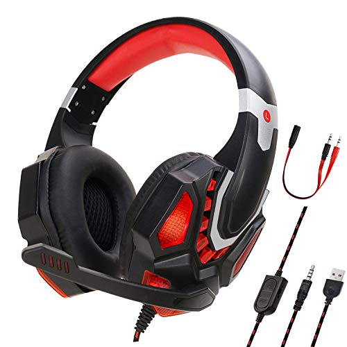 YOUPECK G10 Stereo Gaming Headset for Xbox One, PS4, PC, Over Ear...