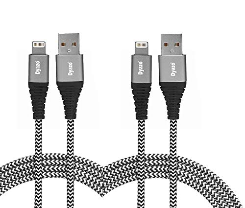 Dyazo 6 ft Apple Mfi Certified Charging & Sync Nylon Braided...