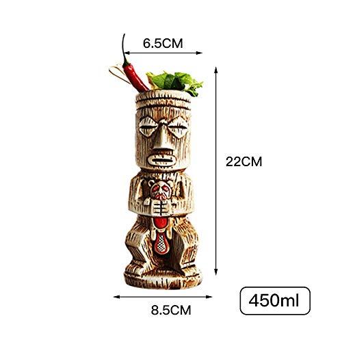 no branded Tazas Tiki, Jarra de Cerveza, Tazas de cerámica Tiki, Taza de Tiki Hawaiana Creativa de Varios Estilos