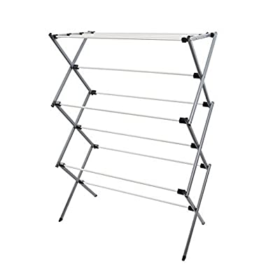 Finnkarelia Folding Drying Rack Clothes Dryer Rack Kid Clothes Hanging for Laundry Home Rust Proof 42 Inch