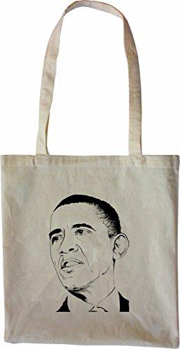 Mister Merchandise Tasche Barack Obama Stofftasche, Farbe: Natur