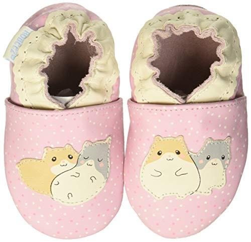 Robeez Baby Mädchen Hamster Family Flache Hausschuhe, Pink (Rose Poudre 133), 17/18 EU (0-6 M)