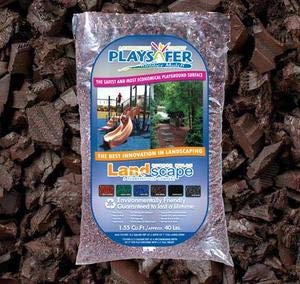 Playsafer Brown Rubber Mulch 77 Cu. Ft. - 2000 Lbs. Pallet - 50 Bags