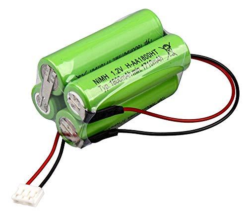 Accupack voor noodverlichting 4820Q 4,8 V NiMH accu AA 1800 mAh 20 cm kabel + stekker voor noodverlichting veiligheidsverlichting