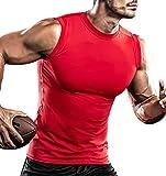 DRSKIN Undershirts Running Shirt Tank Tops Men's Cool Dry Compression Baselayer Sleeveless (STR07, L)