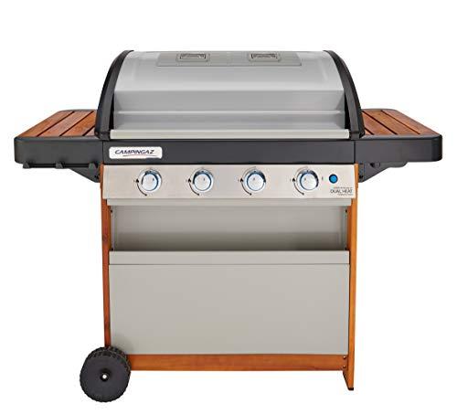 Campingaz Gasgrill 4 Series Dual Heat, BBQ mit 2 separaten Grillzonen, 4 Edelstahlbrennern, InstaClean Reinigungssystem und Culinary Modular System