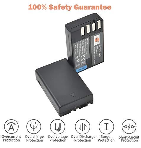 DSTE Replacement for 2X D-Li109 Li-ion Battery Compatible Pentax K-R K-30 K-50 K-500 KR K30 K50 K500 K-S1 K-S2 K-70 Camera