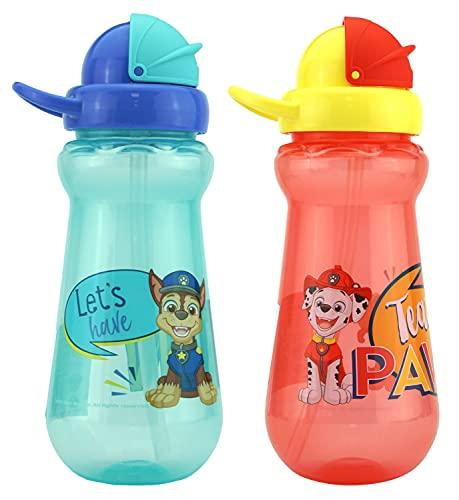 HOVUK Paw Patrol - Botella de agua potable (350 ml, sin BPA, unisex, para niños y niñas de 6 meses