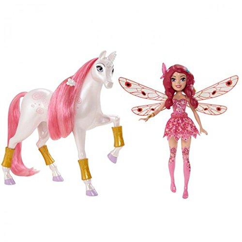 MATTEL CHJ99 Mia and me Minipuppe Einhorn Puppe Elfe Fee Figur Spielzeug Yuko , Farbe:Pink