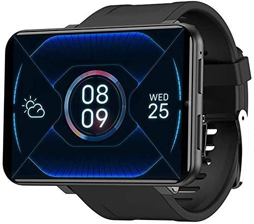Reloj inteligente Bluetooth de 2.86 pulgadas LCD Smartwatch impermeable IP68 4G reloj inteligente con monitor de frecuencia cardíaca, reloj deportivo, reloj de fitness, negro