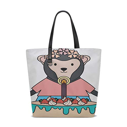 Ladies Handbags For Women Handle Satchel Large Shoulder Bag For Women Purse Messenger Bags Tote Bag Backpack Cute Monkey Sweet Cake Birthday Party Printing Best Tote Bag