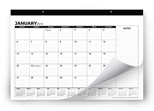 """2019 Desk Calendar or Large Wall Calendar 11"""" x 17"""" (Use Monthly from November 2018 to December 2019) - Medium Sized Desk Pad for Office - by Royal Mountain Print Co."""