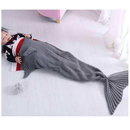 RKRXDH Meerjungfrau Decke Handgemachte häkeln meerjungfrau Flosse Decke für Erwachsene Mermaid Blanket alle Jahreszeiten Schlafsack Klimadecke