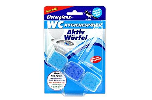 Elsterglanz WC-Hygienespüler Aktivwürfel | 5 verschiedene Düfte | WC-Stein Kraftspüler Beckenstein Toilettenstein Urinalstein WC-Reiniger (Meeresfrischeduft)