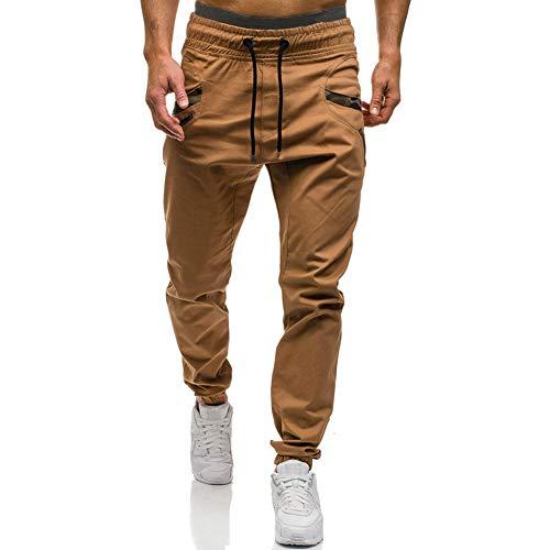 Mens Fashion Athletic Joggers Pants - Sweatpants Trousers Cotton Cargo Pants Mens Long Pants Khaki
