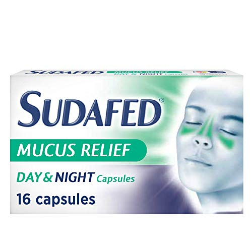 Sudafed Mucus Relief Day and Night Capsules, Cold & Flu Capsules, Gets to...