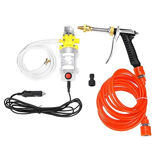 Buy LKSDD Pressure Washer,12V 120W High Pressure Car Electric Washer Wash Pump Set Portable Auto Was...