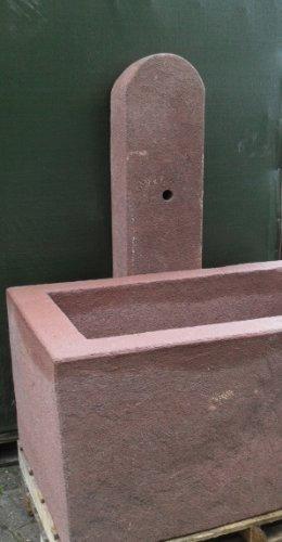 Brunnenstele aus Sandstein 150 cm hoch Brunnen Steintrog - Granittrog Sandsteintrog
