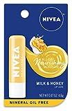 NIVEA Milk and Honey Lip Care - Moisturized Lips All Day - 0.17 oz....