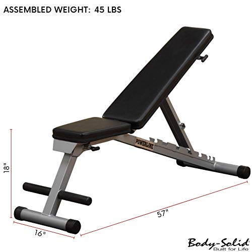 Powerline by Body Solid Flat Incline Decline Folding Multi Bench PFID125X