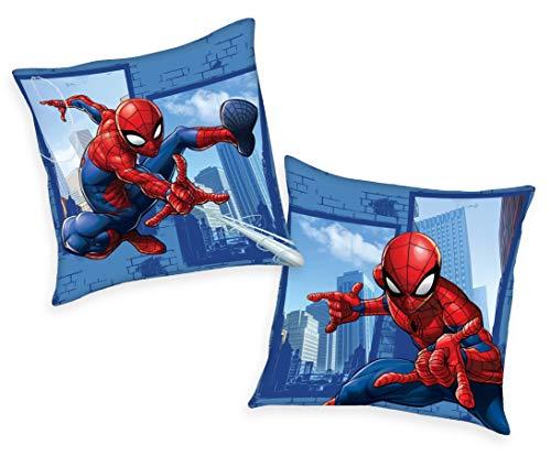 Marvel Spiderman Kissen Kuschelkissen 40x40cm, gefüllt