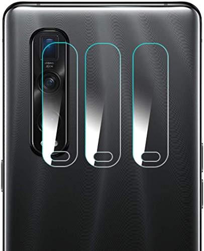 OPPO Find X2 Pro カメラフィルム [Gos Elec] OPPO Find X2 Pro カメラ保護フィルム ラウンドエッジ加工 軟質ガラスフィルム 自己吸着 キズ防止 高光透過率 OPPO FindX2 Pro OPG01 レンズ液晶保護