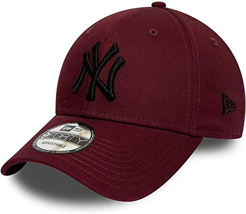 New Era League ESTL 9Forty Adjustable Cap NY Yankees Bordeaux Schwarz, Size:ONE Size