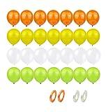 60Pcs Globos de Helio Globos de Decoración Cumpleaños Globos de Látex Naranja, Amarillo, Blanco y Verde Fruta Decoración de Globos para Aniversario,Fiesta,Graduación.