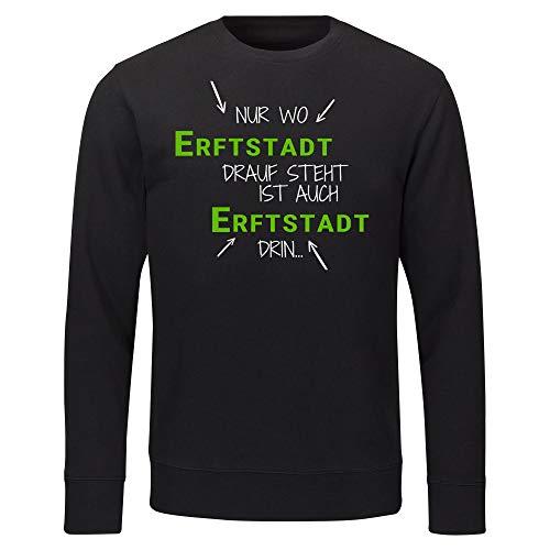 Multifanshop sweatshirt alleen waar boren Drauf staat is ook boren erin zwart heren maat S tot 2XL
